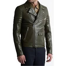 leather biker jacket olive green leather biker jacket