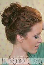 chignons secs comment les cuisiner the 10 sec top knot coiffures chignon coiffé décoiffé et coiffé