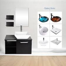 bathroom sink and faucet combo 28 bathroom vanity cabinet floating wall mount ceramic glass sink