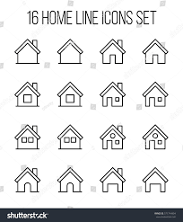 set home icons modern thin line stock vector 571744804 shutterstock