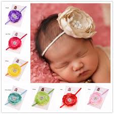 newborn hair bows 30pcs hair flower pearl flower headband newborn hair bows