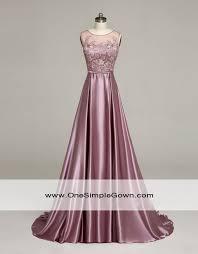 elegant round neck lace satin long dress dinner dress
