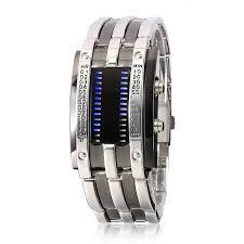bracelet watches led images Youyoupifa army style alloy bracelet and blue led jpg