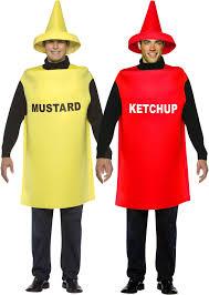 ketchup u0026 mustard bottle mens fancy dress fun food sauce novelty