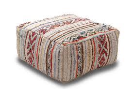 vintage kilim ottoman pouf bedouin 70cm x 70cm x 30cm