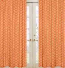 Orange White Curtains Sweet Jojo Designs Arrow Curtain Panels Reviews Wayfair