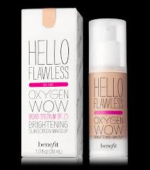 hello flawless oxygen wow liquid foundation benefit cosmetics