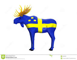 swedish elk stock illustration image 48608081