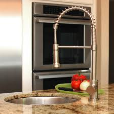 stainless steel kitchen faucets fontaine lnf rspk ss residential spring pull down kitchen faucet