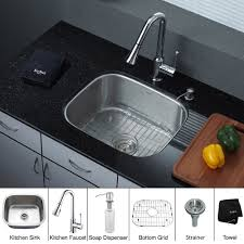 stainless steel kitchen sink combination kraususa com discontinued 20 inch undermount single bowl stainless steel kitchen sink with chrome kitchen faucet and