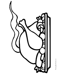 turkey dinner thanksgiving coloring pages 018