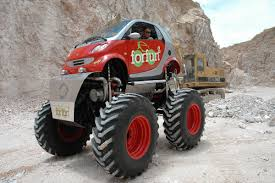 smart car crash image smart fortwo car monster truck 6 jpg monster trucks wiki
