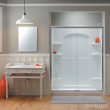 Sterling Bathroom Fixtures by Kohler Shower Doors Bathroom Transitional With Balcony Bathroom