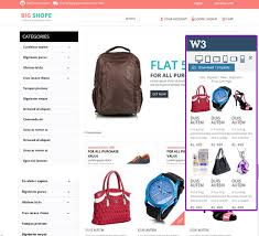 responsive shop template templates download free website
