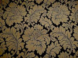 Upholstery Materials Uk Giant Chrysanthemum Jacquard Black Gold Upholstery Fabric The