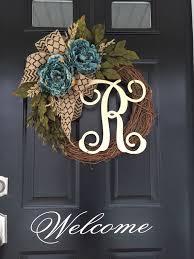best 25 monogram wreath ideas on initial door hanger