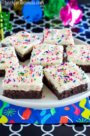 birthday cake brownies seconds
