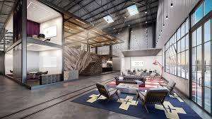 interior exterior design industrial look office interior design metal warehouse building