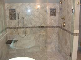 cool picture of bathroom design and decoration using cream glass