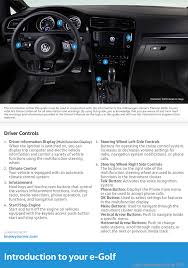 volkswagen e golf 2016 5g 7 g quick start guide