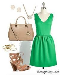 peach lace dress and mint accessories for summer perfect easter