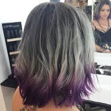 long bob with dipped ends hair resultado de imagen de grey hair with purple tips hair