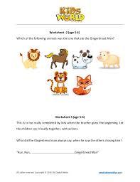 listening comprehension worksheet for 5 6 year old kids
