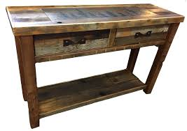 Barn Wood Sofa Table by Bradley U0027s Furniture Etc Rustic Occasional Tables
