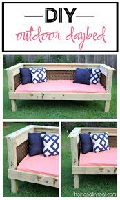 diy daybed plans diy outdoor daybed