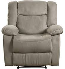 Grey Leather Recliner Amazon Com Monarch Specialties I 8087gy Charcoal Grey Bonded