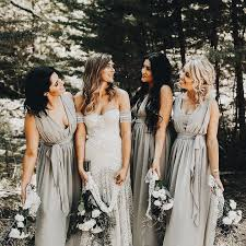 light grey infinity dress love the light grey bridesmaids dresses with the moh in a shade