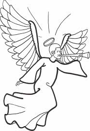 free printable angel coloring pages kids