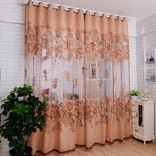 Pattern Window Curtains High Quality Peony Flowers Pattern Window Voile Curtains 100 250