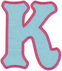 applique letter k embroidery designs machine embroidery designs