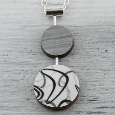 wood necklace designs images Double circle boomerang reversible laminate necklace smashfire jpg