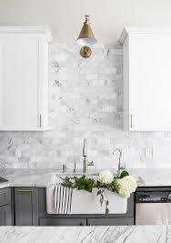 white kitchen cabinets with marble counters 25 timeless white marble home decor ideas digsdigs