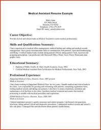 Example Of A Medical Assistant Resume by Medical Assistant Resume Samples Job Sample Resumes