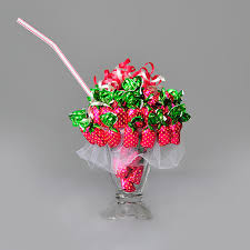 candy arrangements strawberry sundae candy bouquet