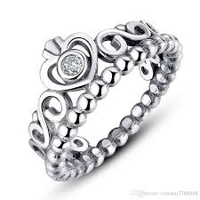 valentines day ring 100 s925 ring for s day princess crown sterling sliver