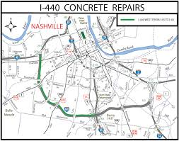 Map Of Nashville I 440 Repairs To Close Section Of Nashville Roadway Clarksville