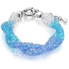crystal mesh bracelet images Buy allie blue crystal filled twist mesh bracelet online bella jpg