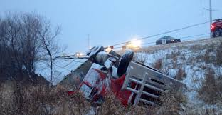 semi truck hauling thanksgiving turkeys overturns in mn