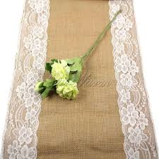 burlap and lace table skirt home table decoration