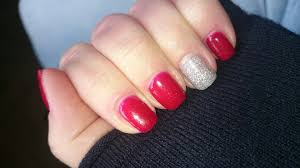 christmas nails 2 cnd shellac ruby ritz and ice vapor cnd