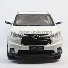 toyota all cars models all white 1 18 toyota highlander 2015 suv diecast model car