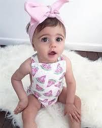 headband baby watermelon pop sleeveless baby romper with headband baby girl