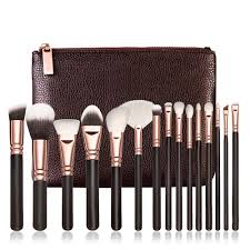 brand new 15 pcs rose golden plete makeup brush set professional luxury set make up tools