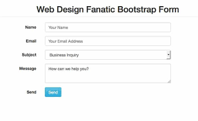 free simple bootstrap contact form template web design fanatic