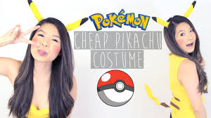 halloween how to easy diy no sew pikachu costume youtube