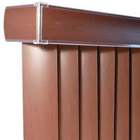 Faux Wood Blinds For Patio Doors Shop Century Woodline Vertical Blinds At Lower Price